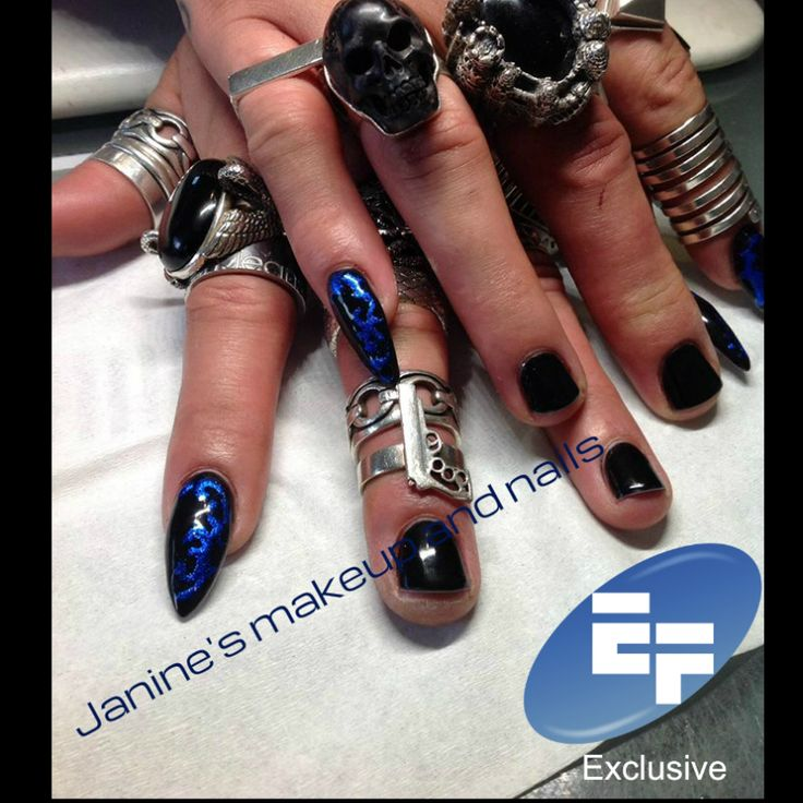 Thanks to Janines MakeUp and Nails for these cool RaNails Black Diamond Lacquerel nails! #teambfx #bfx #beautyfx