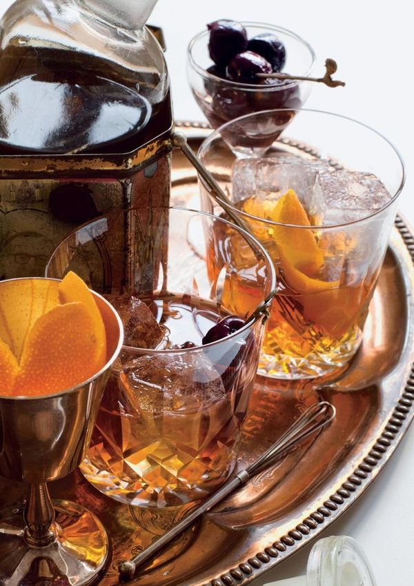 This cocktail of rye, vermouth, absinthe and maraschino is jsut the thing to enjoy at Christmas. The festive treat can be found in the cookbook Hawksmoor at Home.