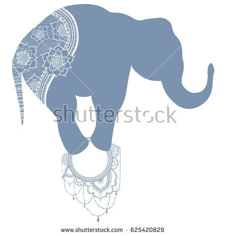 Elephant vector illustration. Hand-drawing.