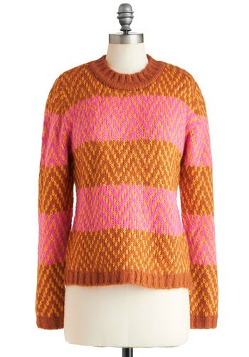 Spice of Stripes Sweater, #ModCloth