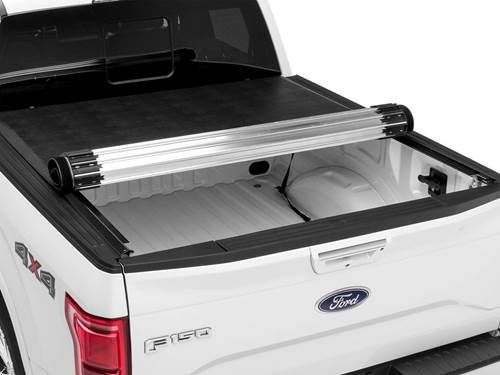 """Truxedo Titanium Tonneau Cover - Hard rolling for security - Aluminum slats with industrial grade leather - Sits 3/4"""" above truck bed - 3 year warranty"""