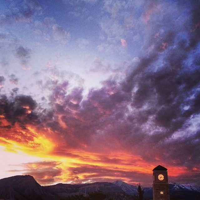 Fort Lewis College has a stunning campus, which is located on a ridge overlooking Durango, Colorado