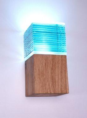 Glas Holz Würfel