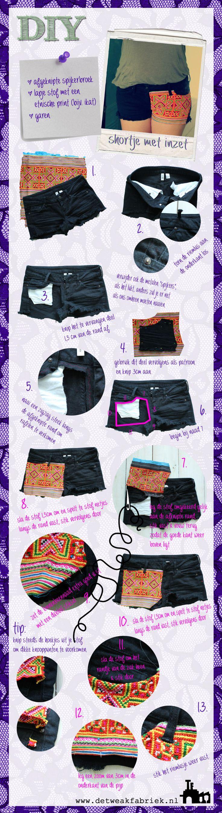 DIY shorts: maak zelf shorts met ethnic print. Complete tutorial