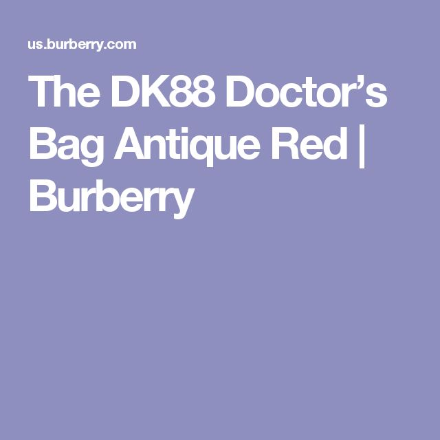 The DK88 Doctor's Bag Antique Red   Burberry