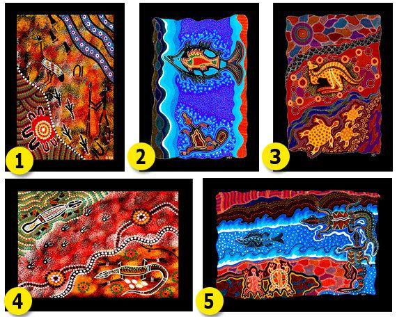 Australian Aboriginal Art Canvas Panel by AboriginalOzArt on Etsy