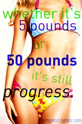 5 or 50 pounds, it's still progress!