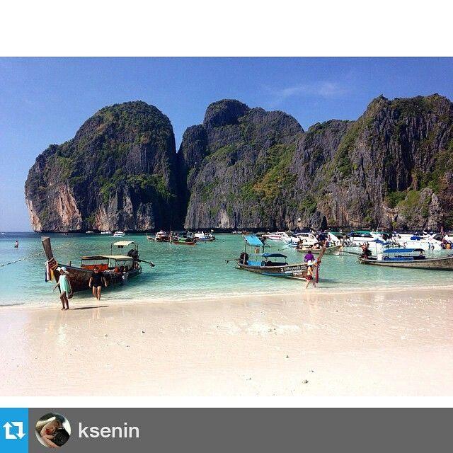 @ksenin viettää ilmeisen aurinkoista lomaa Thaimaassa. Kiitos kuvan jakamisesta! #repostapp #mayabay #phiphi #thailand #mkgoesasia #villadaholidays