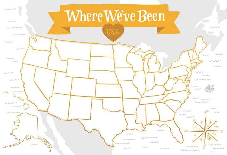 image of where we ve been usa map color options cash