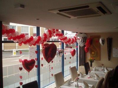Decoracion de amor y amistad rojo y blanco cosas para for Decoracion amor y amistad oficina