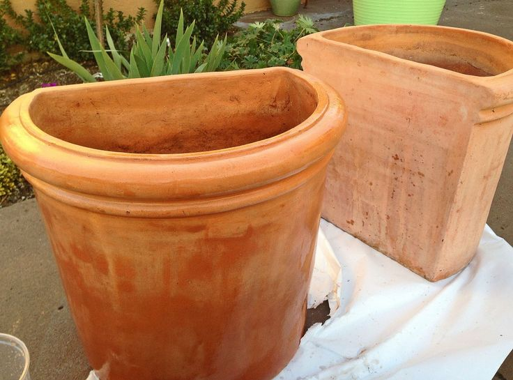 Terracotta pots sealant use tile stone start with