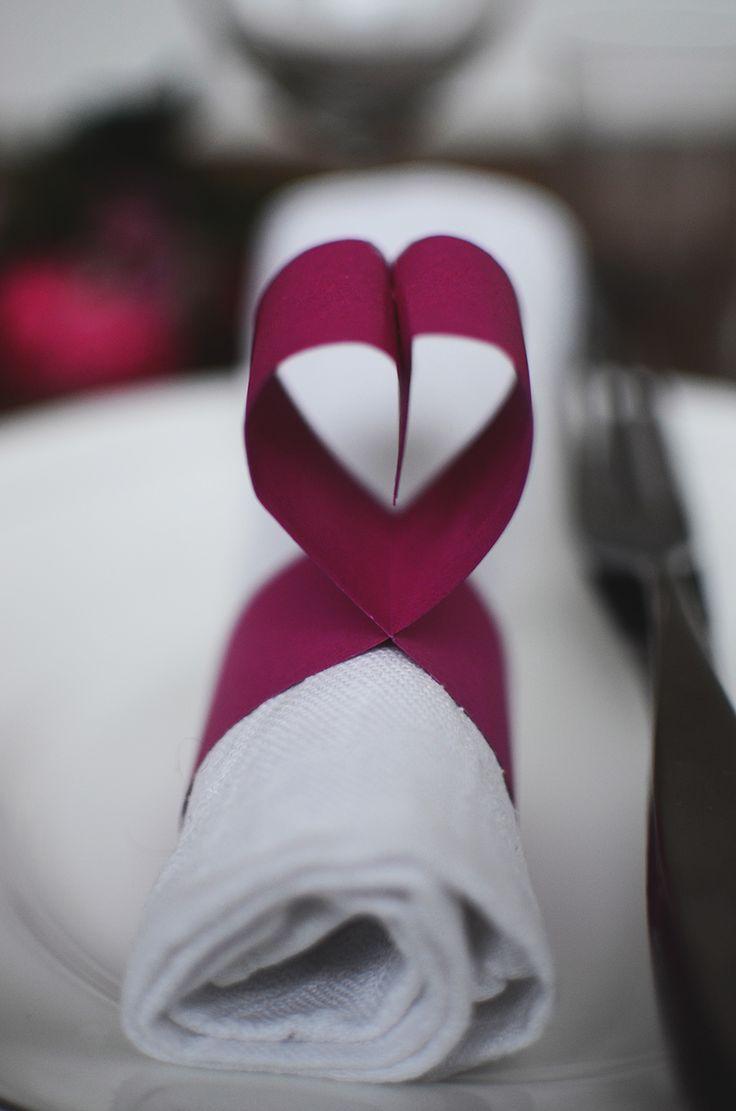 Dukningtill Alla hjärtans dag | Table setting Valentines Day