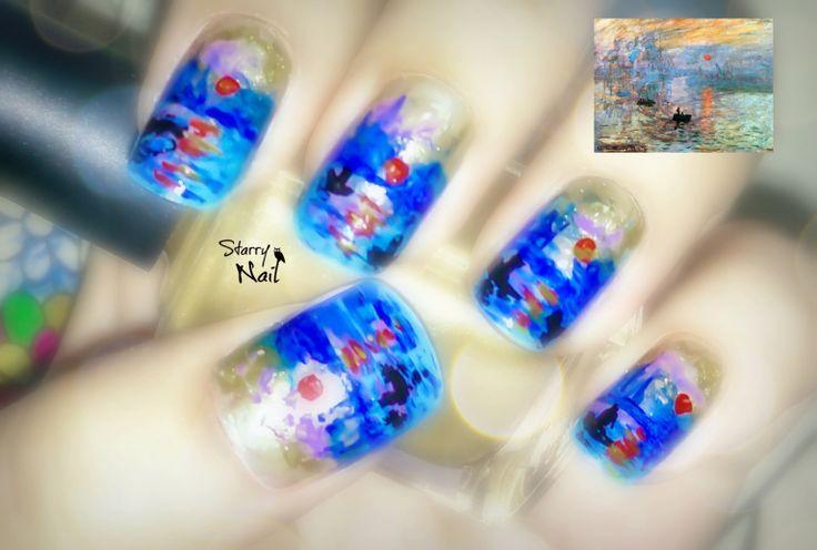 Monet's Impression, Sunrise Nail Art