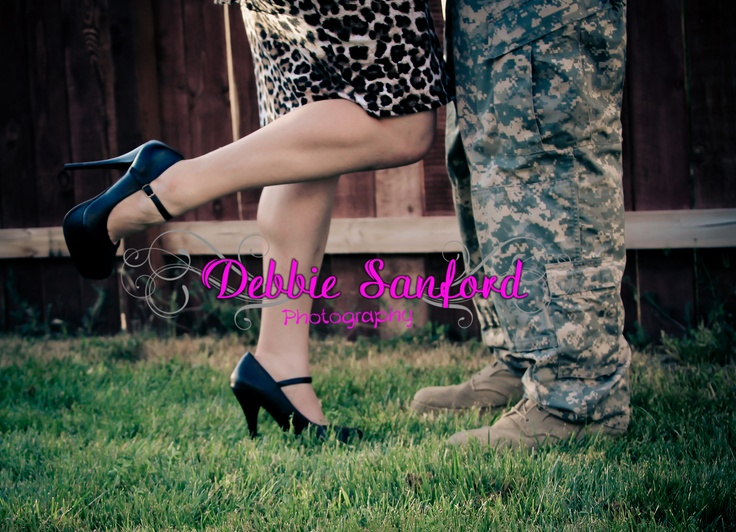 the hubs and I Army love.  Army boots & heels   Army love photography