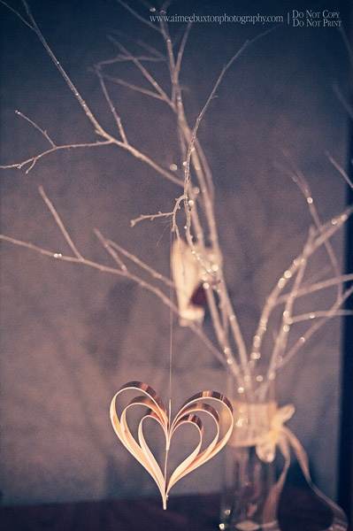 Glittered tree branches