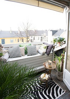 How to make the most of dead space // Balcony turned cozy living area