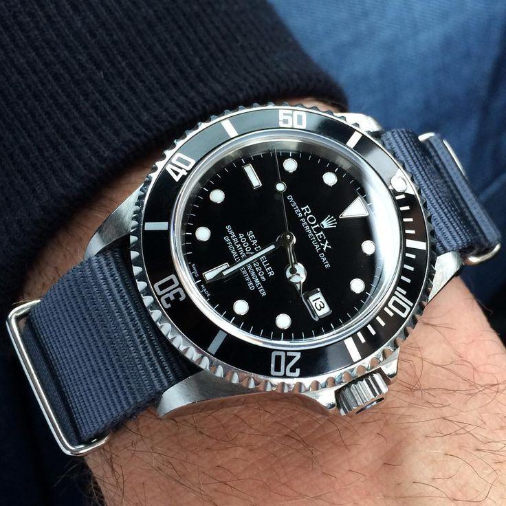 """@submarinate on Instagram: """"♠️ #16600 on #natostrap ♠️ . . . . #tidssonen #klocksnack #Rolex #116660 #116610 #wristporn #114060 #wristwatch #seadweller #watchaddict…"""""""