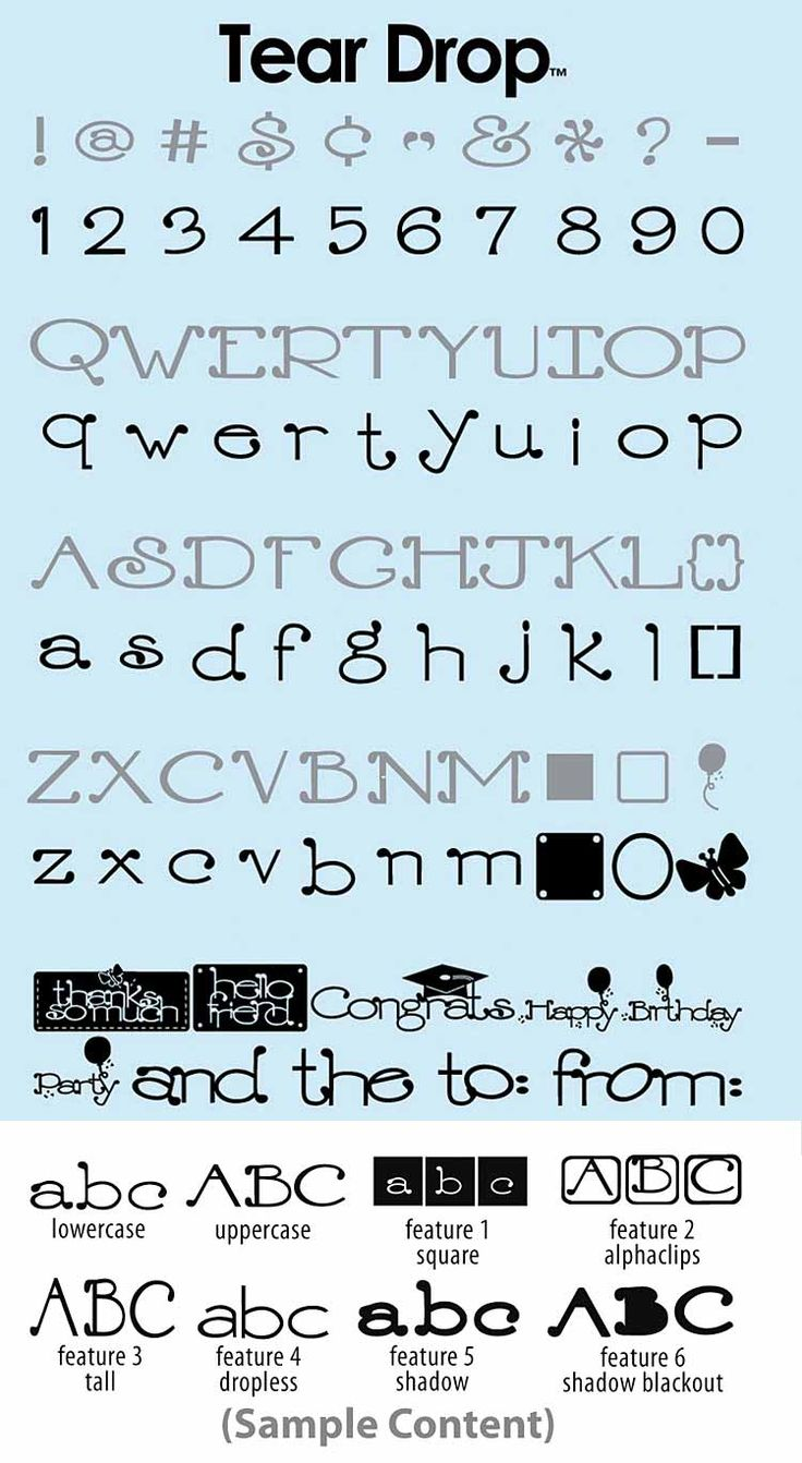 Tear drop font provo craft cricut pinterest provo for Cricut lettering machine