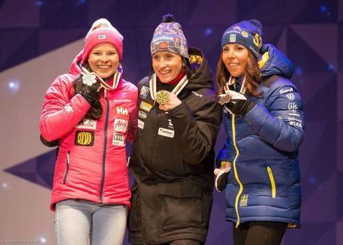 Congratulations! Top 3 of Ladies Skiathlon:  1. Marit Björgen (NOR)  2. Krista Pärmäkoski (FIN)  3. Charlotte Kalla (SWE)  Nordic World Ski Championships, Lahti, Finland, February 2017