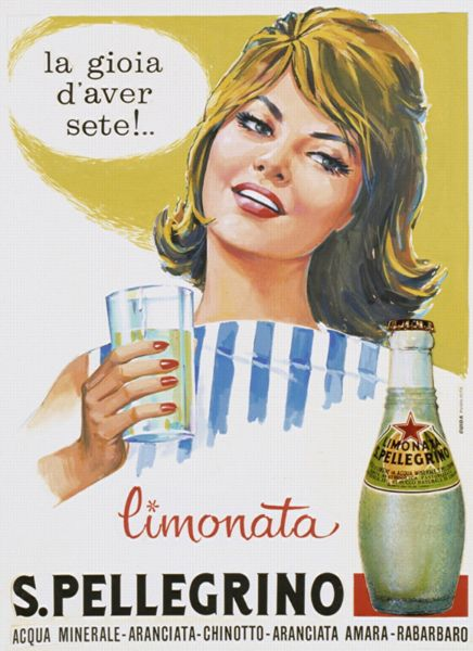 "This Sanpellegrino vintage poster is saying: ""Happy to be thirsty!"" Who could not agree more in front of a Limonata!"