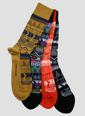 Henrik Vibskov is a Danish fashion designer with an imagination for  pattern. Bring it to your feet! Check out his fancy footwork at sockhopny.com :)