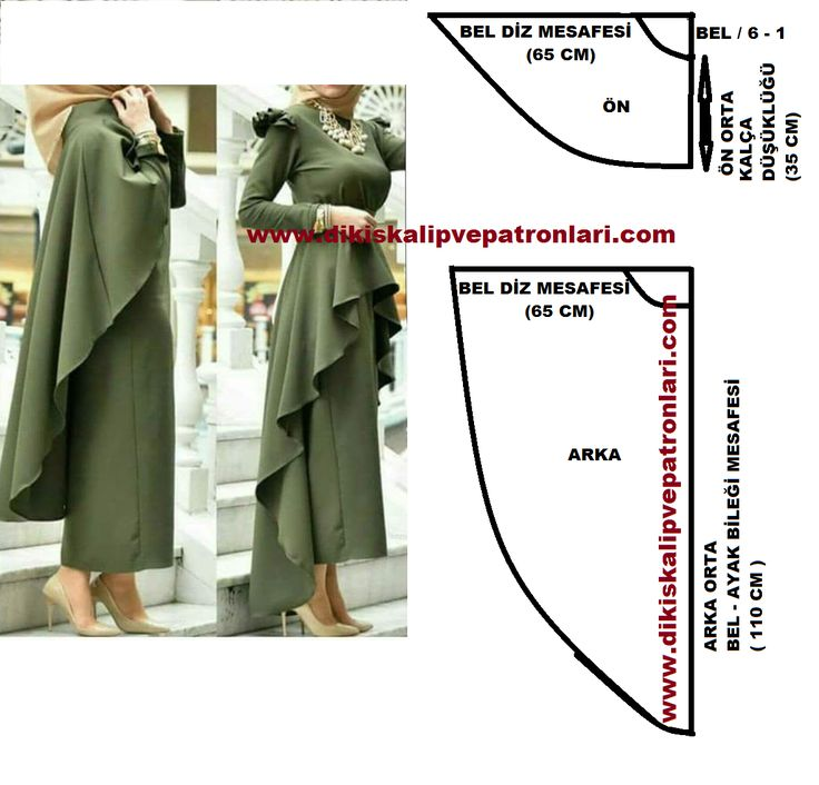 Cape and ruffles pattern