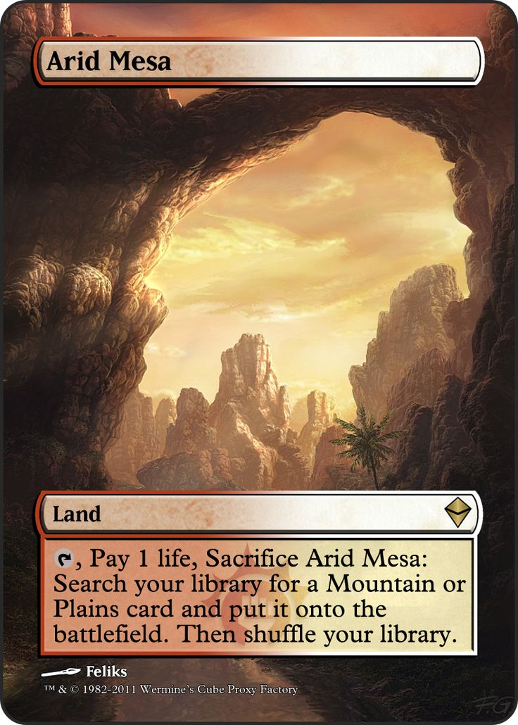 Magic The Gathering Arid Mesa Proxy