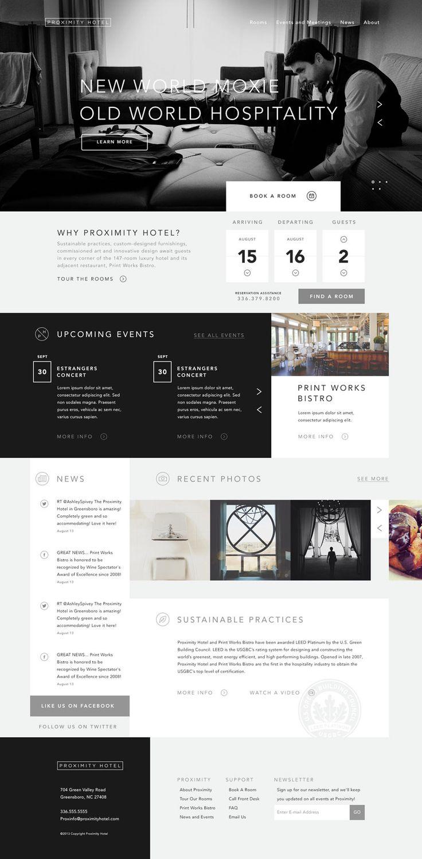 Proximity Hotel Web Design