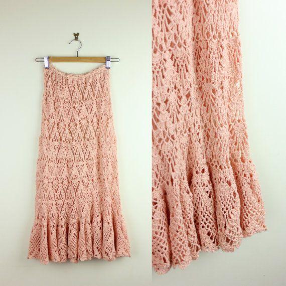 Vintage 70s Crochet BOHEMIAN GODDESS Handmade by DarkHorseWanderer