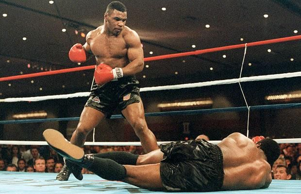 Mike Tyson wins the heavy weight championship of the world by beating Trevor Berbick in fine style.