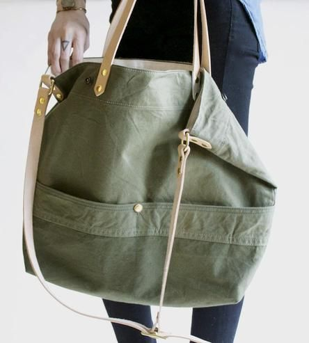 Reclaimed Army Tent Shoulder Bag by Neva Opet