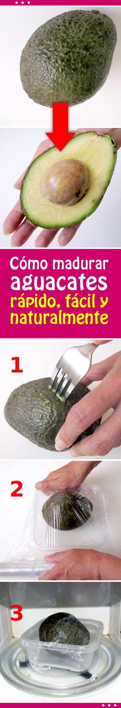 Cómo madurar un aguacate en 30 segundos. ¡Un truco con el microondas! #aguacate #madurar #microondas #rapido #tips