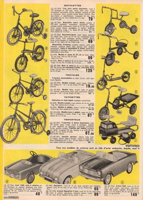 Jouets du catalogue manufrance de 1967 catalogue de for Machine a coudre omnia