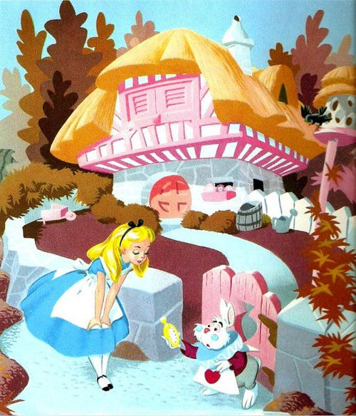 """My gloves! At once, do you hear!"" ""Goodness. I suppose I'll be taking orders from Dinah next."" Alice in Wonderland (1951)"