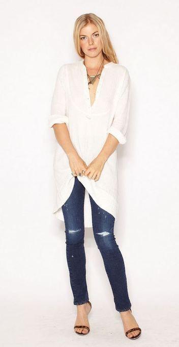 #white jean