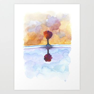 As Above So Below  No15 Art Print by Marina Kanavaki - $16.22