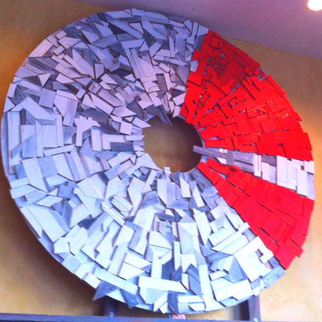 Wood scrap mosaic