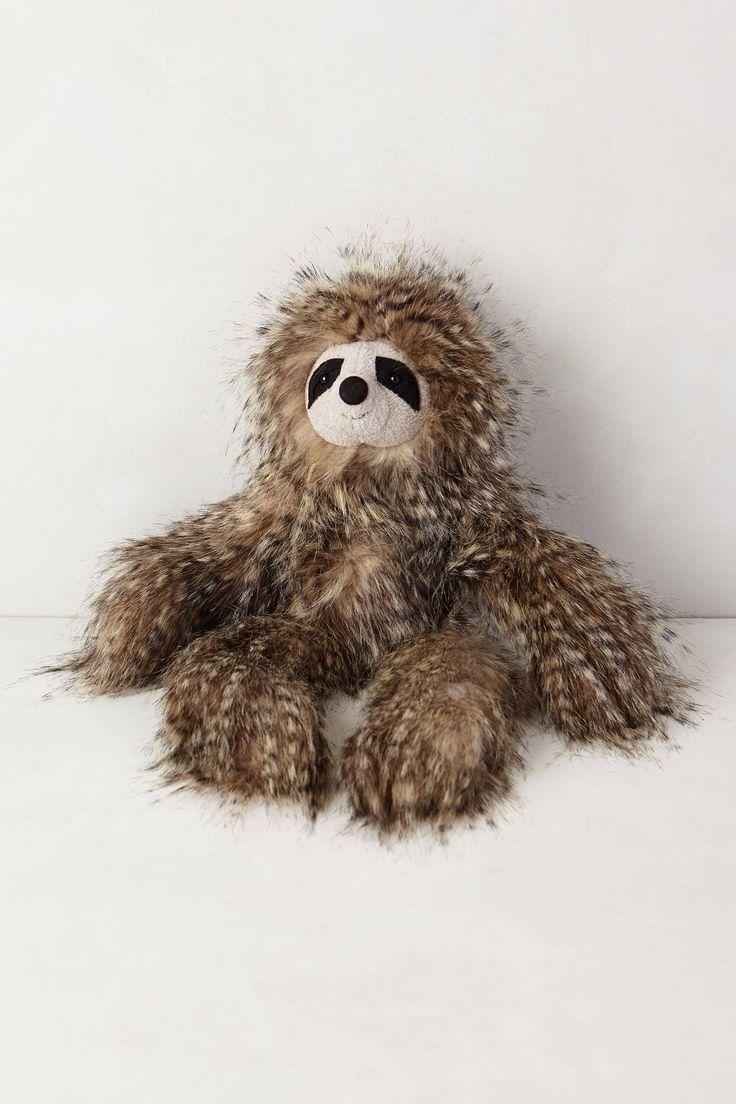 Sloth going to the bathroom - Fuzzy Friend Stuffed Animal