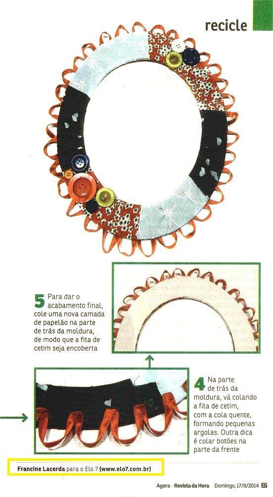 A artesã Francine Lacerda, da Elo7, publicou um tutorial sobre molduras de papelão na Revista Da Hora.