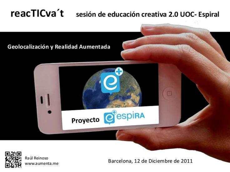 #Educacion #RA Proyecto espìRA. Ejemplos de uso de la RA en el aula