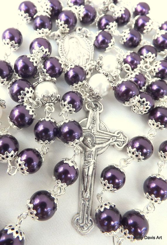 Purple Rosary Five Decade Catholic Rosary Sacred by ...