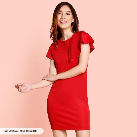 Simple Red Party Dress Koleksi Gaun Pesta Model Terbaru Trend