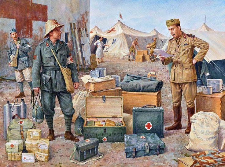 Regio Esercito - Ospedale da campo nel deserto, 1942