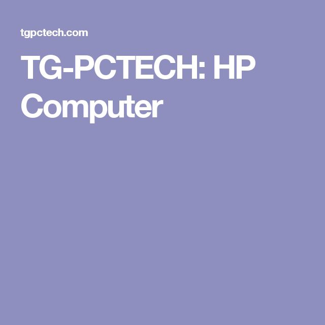 TG-PCTECH: HP Computer