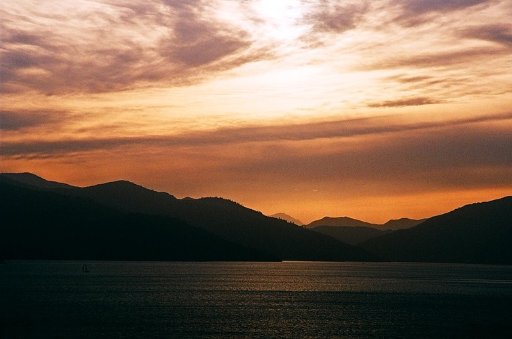 sunsetting over the Marlborough Sounds
