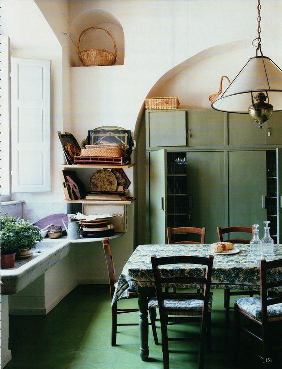 Möbler och inredning jag gillar just nu World Of Interiors, Cabin Interiors, Old Kitchen
