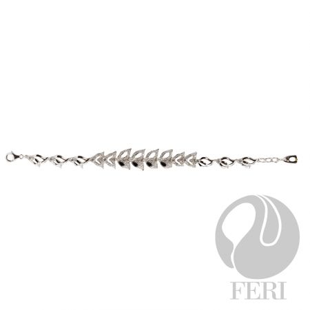 """After Midnight - Bracelet    - Exclusive 950 fine sterling silver  - Exclusive dual natural rhodium and palladium plating   - Set with AAA white cubic zirconia and black cubic zirconia  - Length: 7.5"""" + .75"""" extender with lobster clasp https://www.globalwealthtrade.com/vdm/display_item.php?referral=stephjames&category=66&item=5224&cntylng=&page=2"""