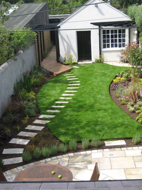 tiny yard overlapping pathways small yard designsmall