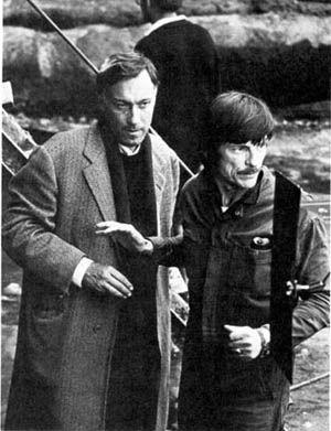 Олег Янковский и Андрей Тарковский во время съемок фильма