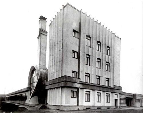 sovietbuildings: Russia, Moscow, 1936, Gosplan Garage Designed by Melnikov